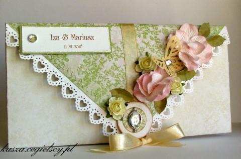 ręcznie robiona kartka z okazji ślubu