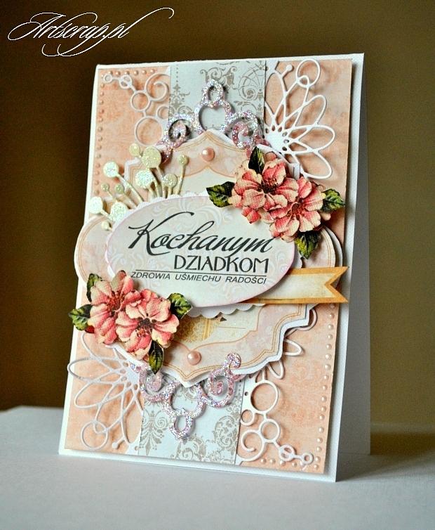 ręcznie robione kartki dla dziadków, dla babci i dziadka