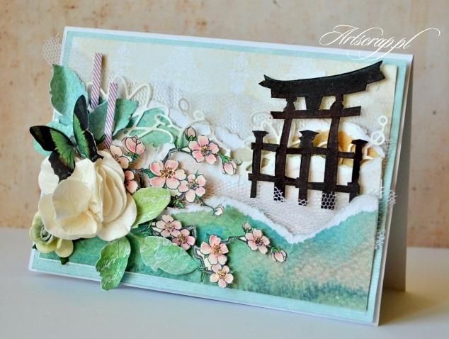Kartka z japońskim motywem