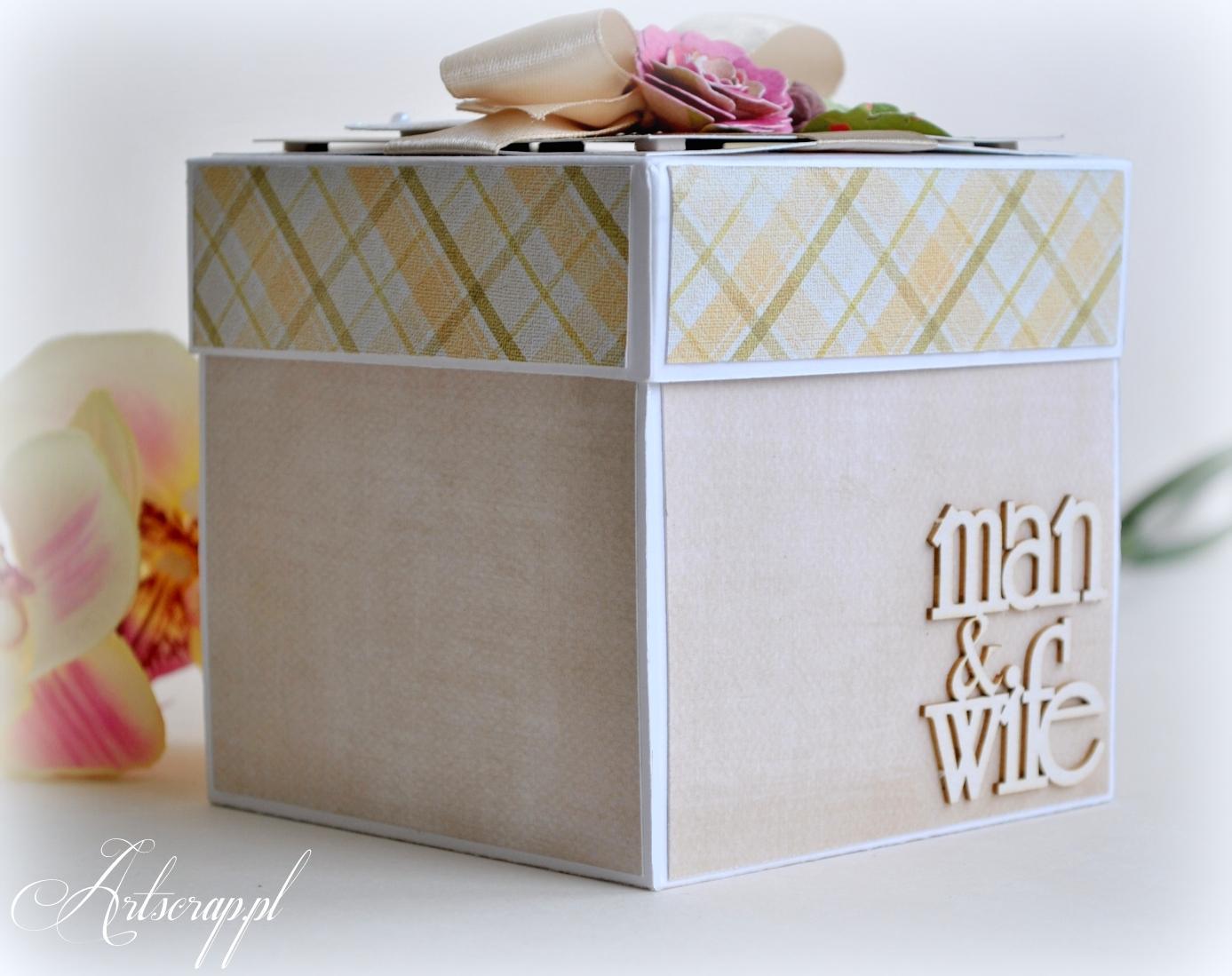 kartka ślubna, exploding box