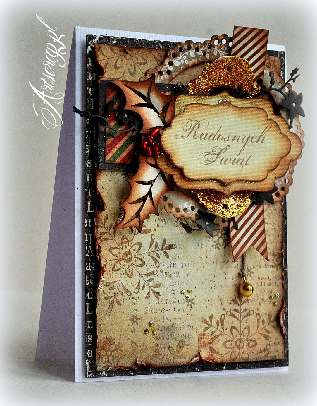 kartki ręcznie robione, boże narodzenie, święta