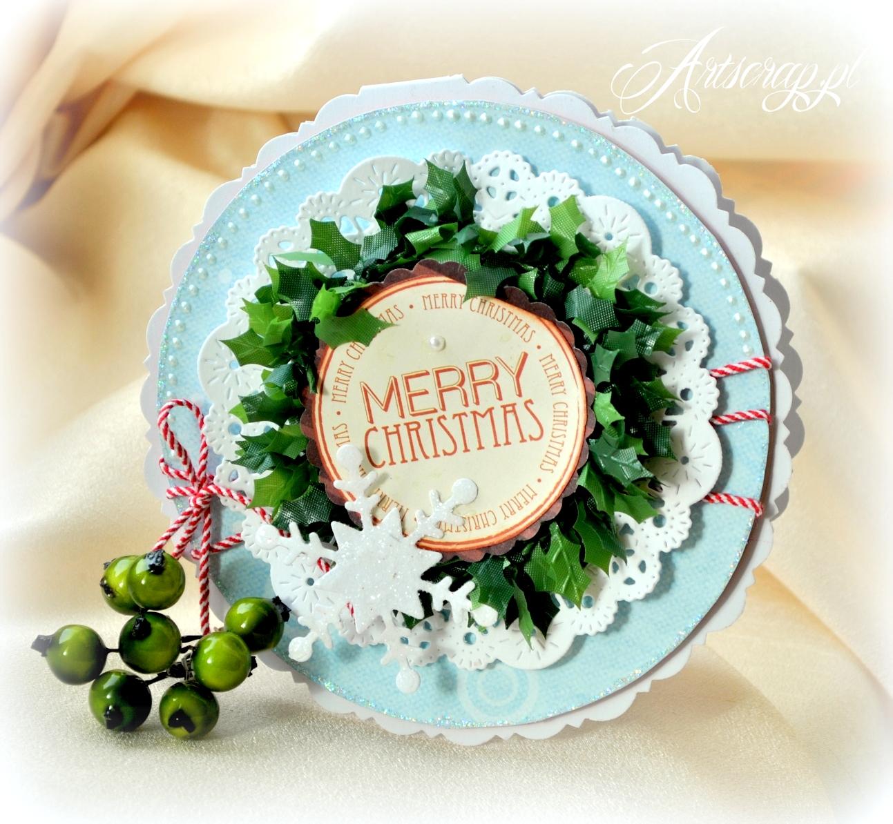 ręcznie robione kartki świąteczne