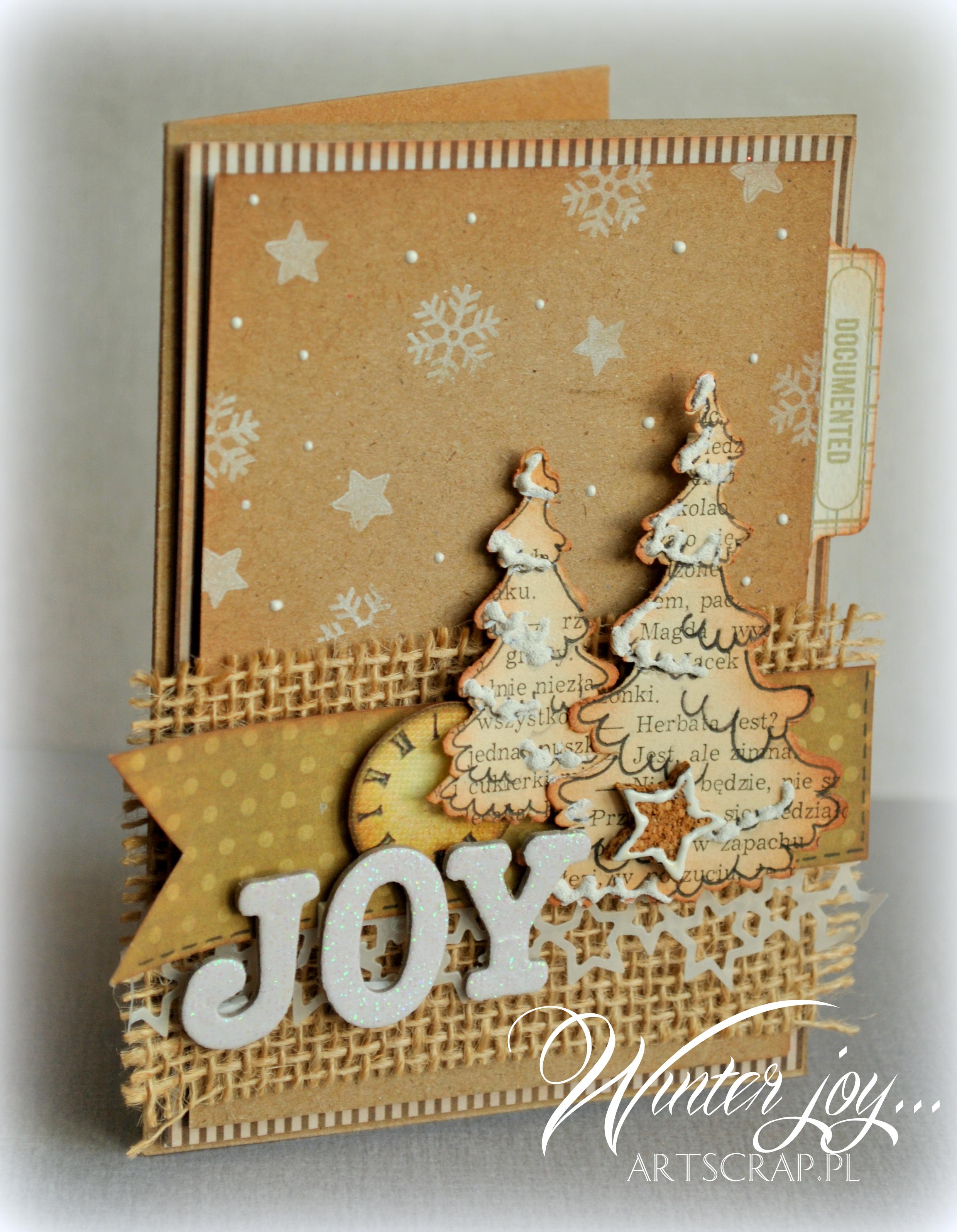 ręcznie robione kartki świąteczna