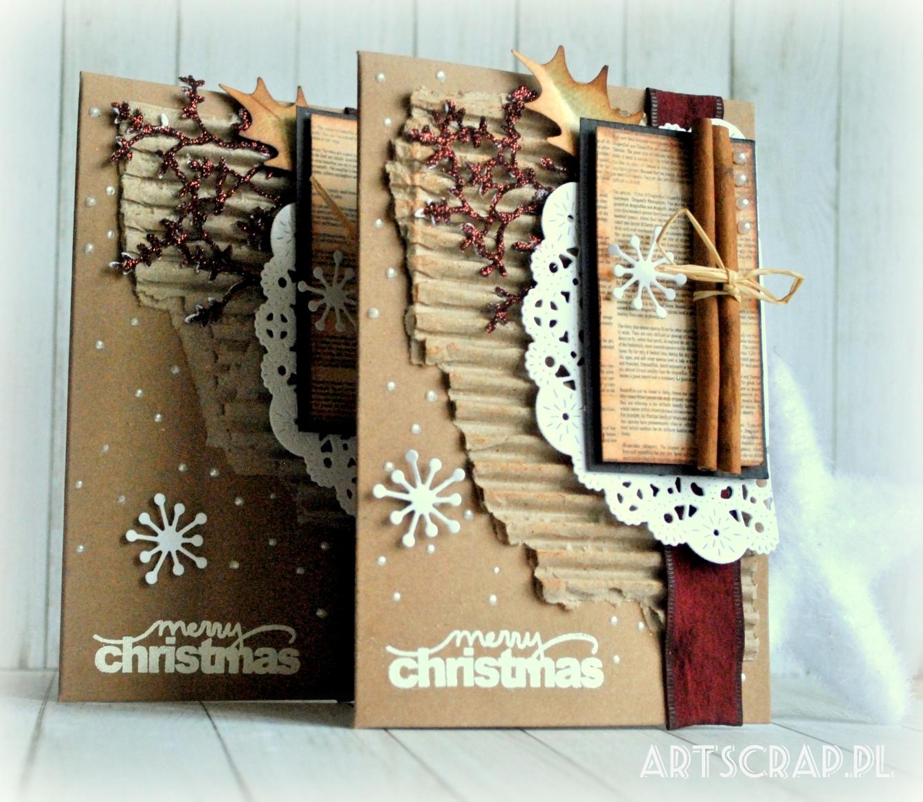 świąteczne kartki ręcznie wykonane